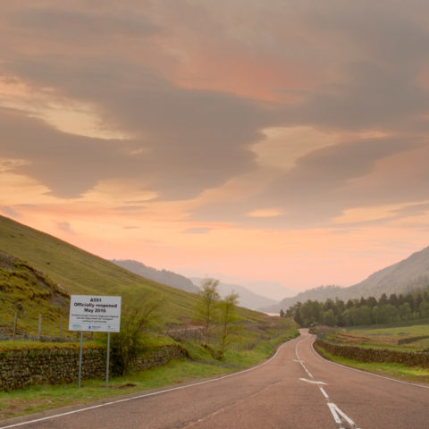 Dunmail Raise opening sunset