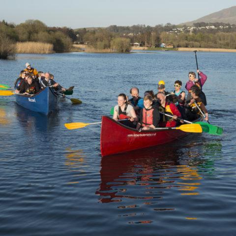 Tiger boat racing at Derwent Water Marina