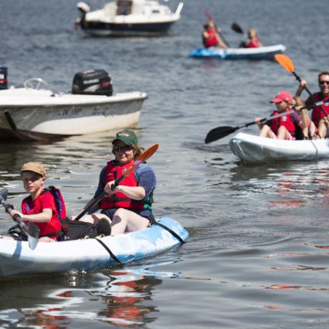 Kayaking at Nichol End