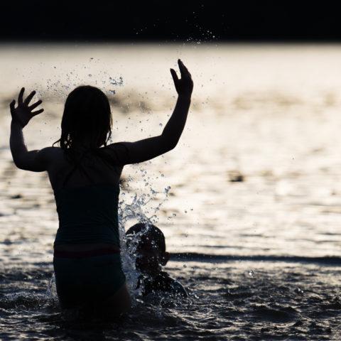 Getting wet in Derwent Water