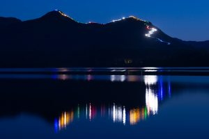 Catbells at night